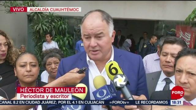 Foto: Héctor de Mauleón confirma intento de asalto a su chofer en la Condesa