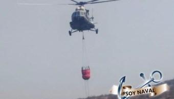 Foto: helicóptero de la Marina, 9 de mayo 2019. Twitter @SEMAR_mx
