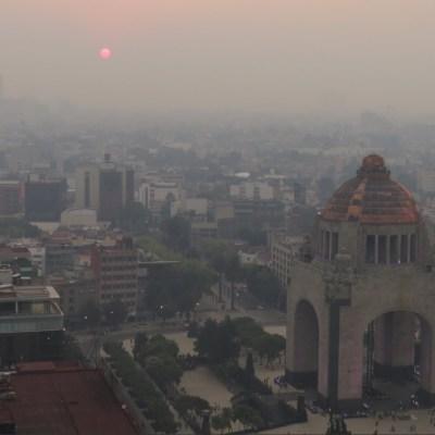 Al menos 22 incendios causan mala calidad del aire en CDMX