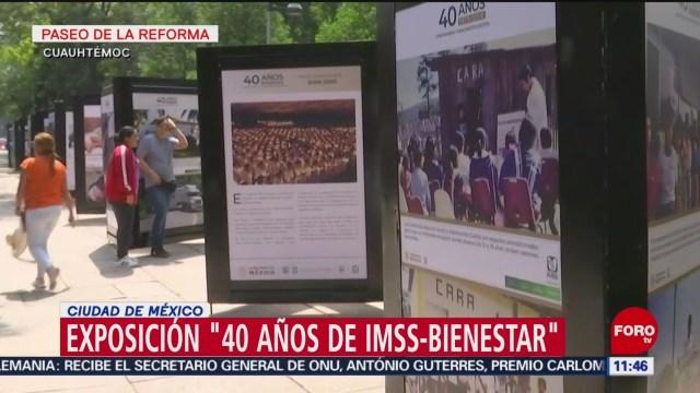 Inauguran exposición '40 años del IMSS-Bienestar' en CDMX