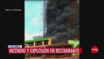 FOTO: Incendio en un restaurante en Colombia deja un lesionado, 12 MAYO 2019