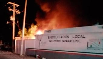Foto: Incendio en estación migratoria de Tapanatepec, Oaxaca, 12 de mayo 2019. Twitter @EncuentroWRadio