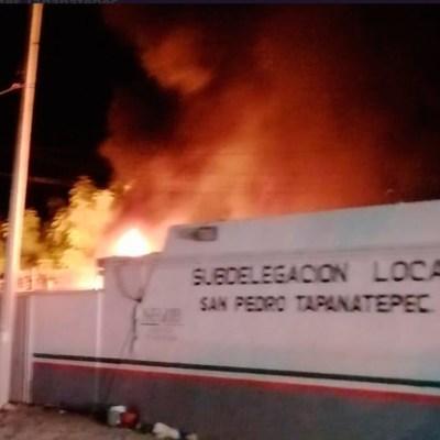 Se fugan 10 migrantes durante incendio en estación del INM en Tapanatepec, Oaxaca