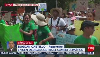 FOTO: Inicia marcha de ambientalistas en el Ángel de la Independencia, 24 MAYO 2019