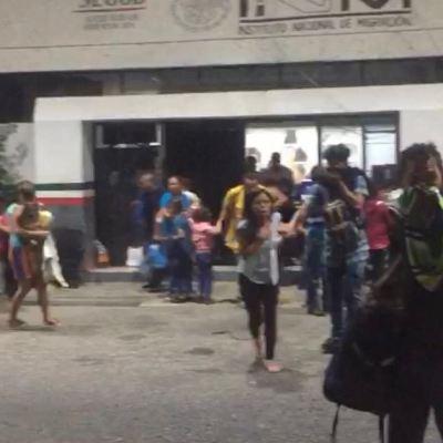 Se incendia estación migratoria de Tapanatepec, Oaxaca