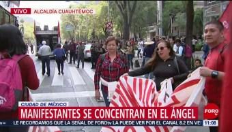 FOTO: Integrantes de la CNTE marchan hacia el Zócalo capitalino, 1 MAYO 2019