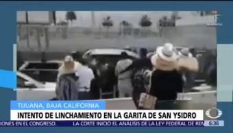 Intentan linchar a pareja de estadounidenses en Baja California