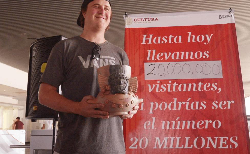 Museo del Templo Mayor festeja a su visitante 20 millones