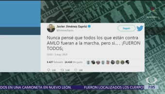 Jiménez Espriú ironiza asistencia a Marcha del Silencio