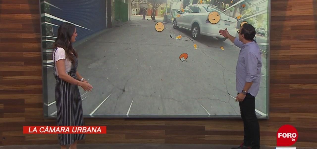 #LaCámaraUrbana en Expreso: Auto estacionado en la banqueta