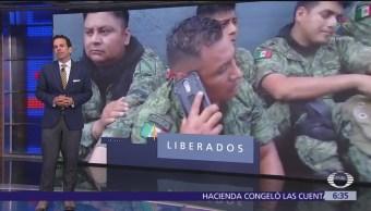 Liberan a militares en Huacana, Michoacán