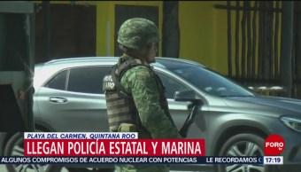 Foto: Llegan policía estatal y Marina a Playa del Carmen