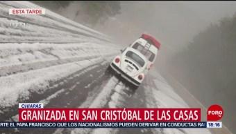 Foto: Lluvia y caída de granizo en Oaxaca