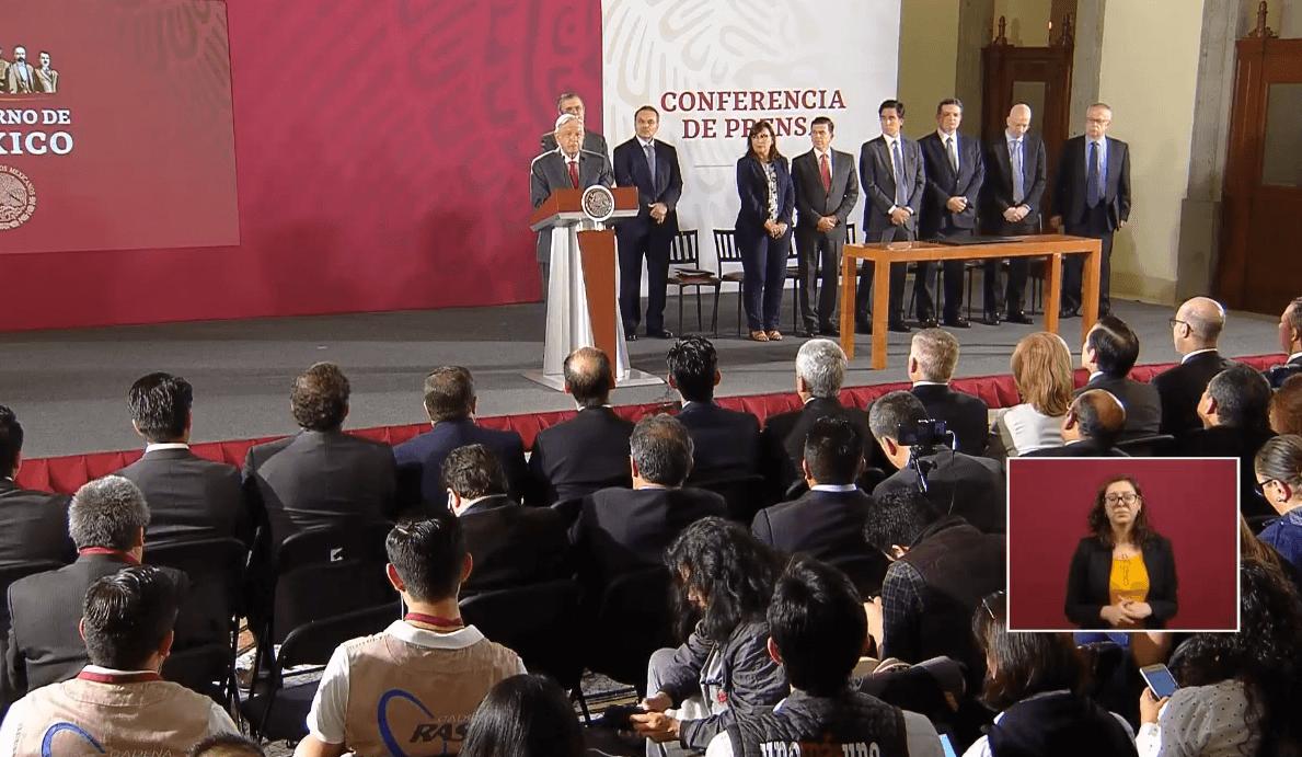Foto: López Obrador anuncia acuerdo para fortalecer finanzas de Pemex, 13 de mayo de 2019, Ciudad de México