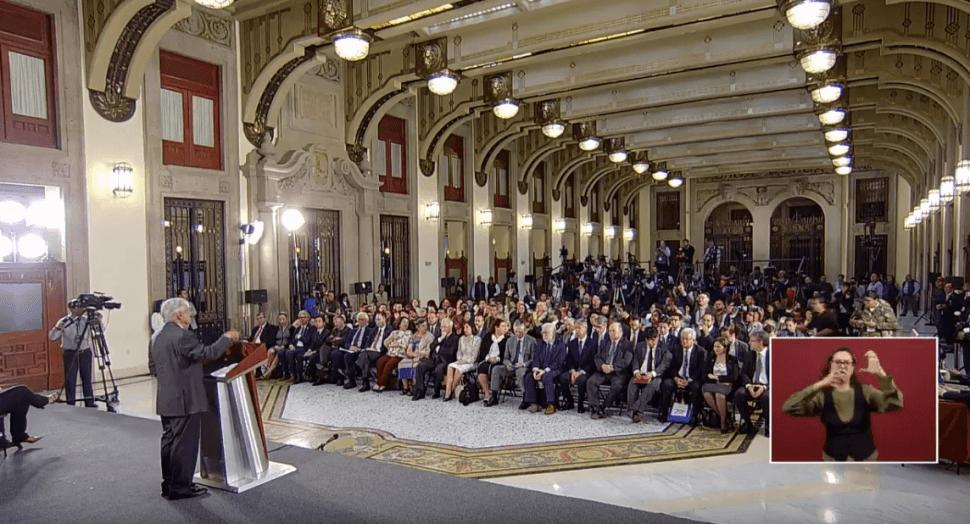 Foto: López Obrador en conferencia de prensa, 20 de mayo de 2019, Ciudad de México