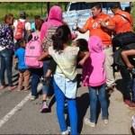 Foto: madres migrantes, 6 de marzo 2019. (Facebook-Instituto Nacional de Migración)