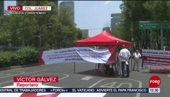 FOTO: Manifestantes bloquean Paseo de la Reforma