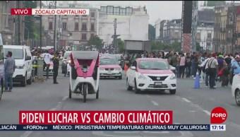 FOTO: Manifestantes demandan políticas contra cambio climático, 24 MAYO 2019