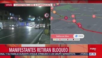 Foto: Manifestantes Bloqueo Carretera Cuernavaca 21 Mayo 2019