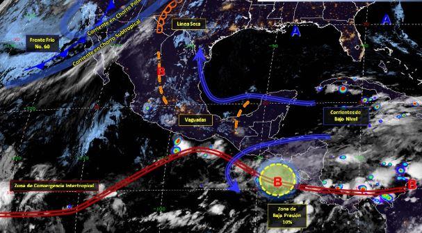 Imagen de fenómenos meteorológicos significativos de las 06:00 horas, 26 mayo 2019