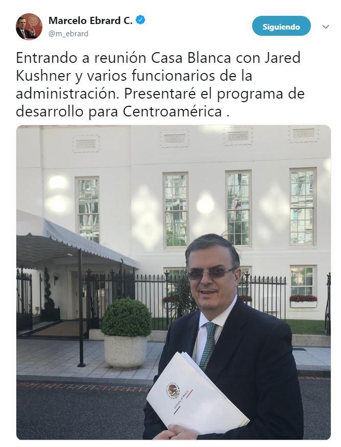 Foto Marcelo Ebrard se reúne con Jared Kushner en la Casa Blanca 24 mayo 2019