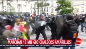 FOTO: Marchan más de 18 mil chalecos amarillos en Francia, 11 MAYO 2019