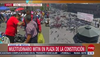 FOTO: Marchas y mitines por Día del Trabajo en Zócalo CDMX, en calma, 1 MAYO 2019