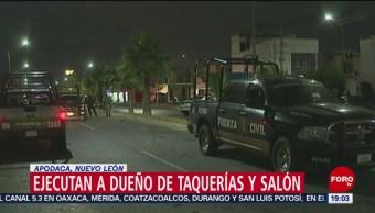 Foto: Matan Dueño Taquerías Apodaca NL 7 de Mayo 2019