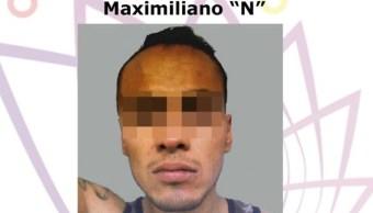 Foto: Maximiliano N, presunto homicida de dos personas en Cuernavaca, 15 de mayo 2019. Twitter @GobiernoMorelos