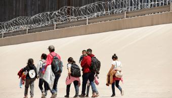 Foto: Migrantes en la frontera entre Ciudad Juárez y El Paso, 9 de mayo de 2019, México