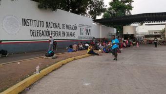 Foto: Estación Migratoria Siglo XXI de Tapachula, Chiapas, 8 de mayo 2019. Twitter @juanelo_28