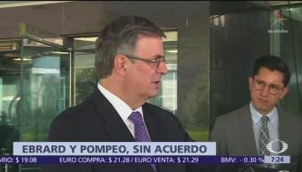 Mike Pompeo deja plantado al canciller Marcelo Ebrard