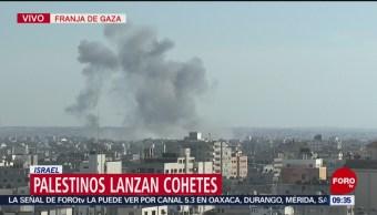 FOTO: Milicias palestinas lanzan decenas de cohetes contra Israel, 4 MAYO 2019