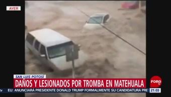 Foto: Militares Limpiaron Destrozos Matehuala San Luis Potosí 31 Mayo 2019