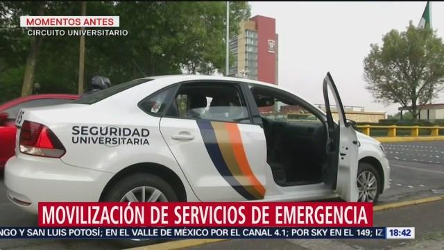 Foto: Movilización de servicios de emergencia en CU