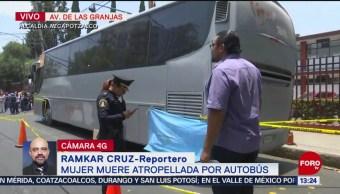 FOTO: Muere mujer atropellada por autobús en colonia Las Granjas