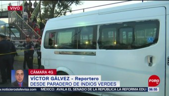 Muere persona durante asalto en transporte público en Indios Verdes