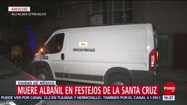 FOTO: Muere una persona en Festejos del Día de la Santa Cruz en Iztacalco, 4 MAYO 2019