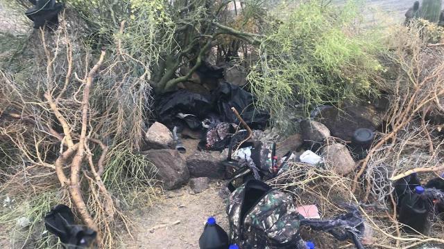 Foto: aseguran narcocampamento en Sonora, 22 de mayo 2019. Noticieros Televisa