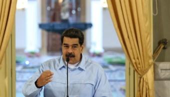 Foto: El presidente de Venezuela, Nicolás Maduro, pronuncia un discurso desde el palacio de Miraflores en Caracas, mayo 31 de 2019 (Reuters)