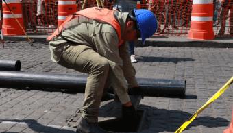 Sustituyen red hidráulica y drenaje en el Centro Histórico