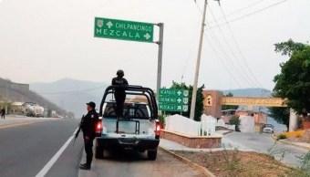 Foto: Operativo de seguridad en Guerrero, 15 de mayo 2019. Twitter @SSPGro