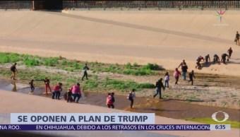 Partido Demócrata afirma que plan migratorio de Trump no es serio