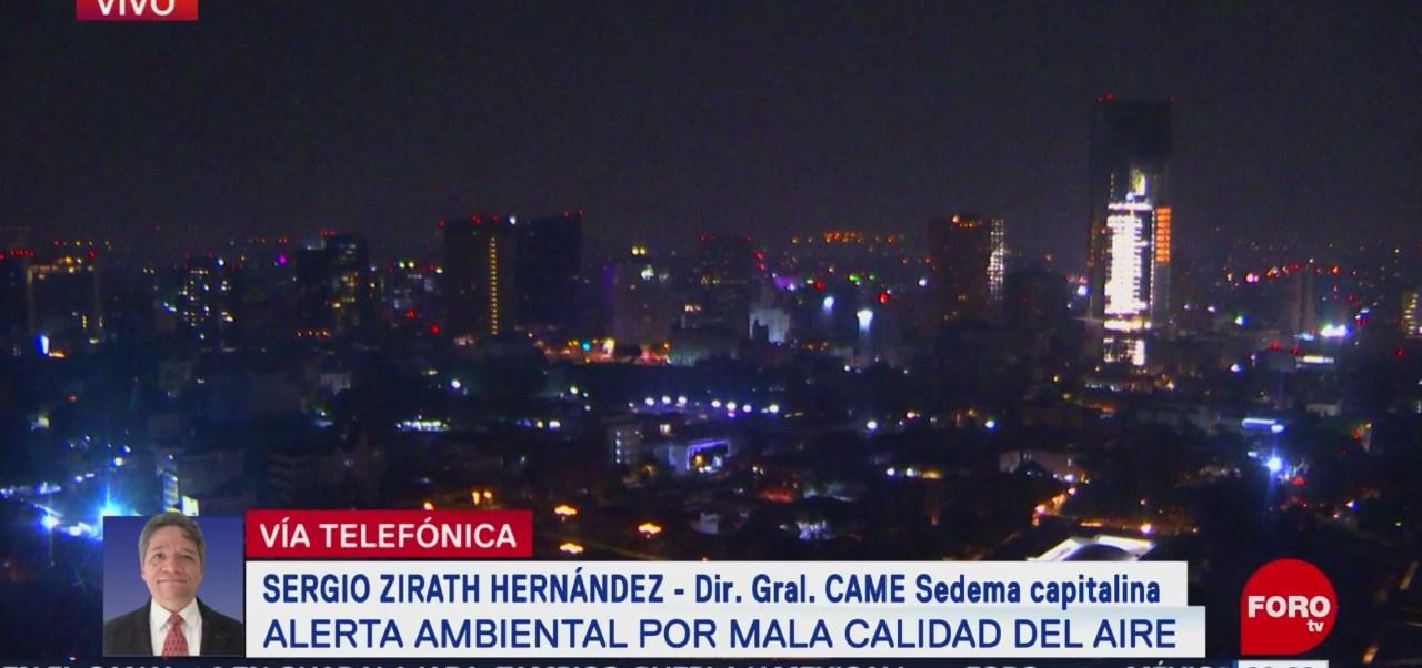 Persiste mala calidad de aire en el Valle de México con 145 puntos