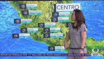 Persisten calor y lluvias en la mayor parte de México