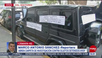FOTO: PGJCDMX abre carpeta de investigación contra sujetos atrincherados en camioneta, 18 MAYO 2019