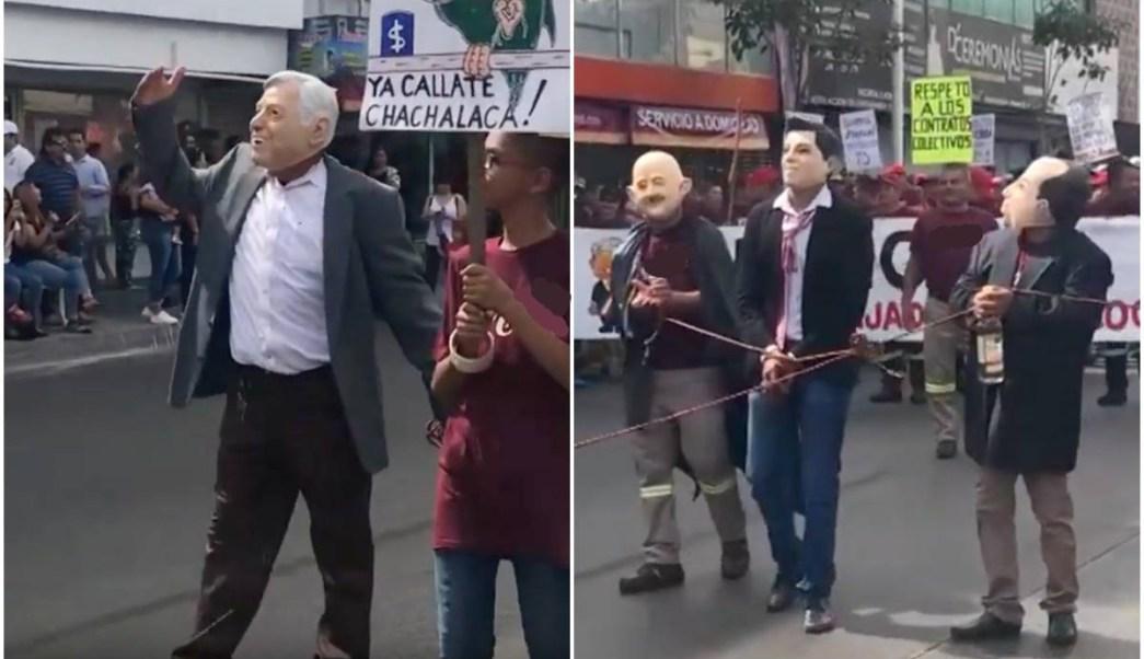 Foto AMLO Expresidentes 1 Mayo 2019