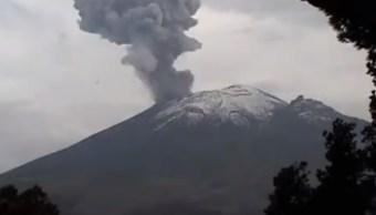 Foto: El Cenapred reporta este sábado que el volcán Popocatépetl registró una explosión a las 19:02 horas con moderado contenido de ceniza, mayo 4 de 2019 (Twitter: @CNPC_MX)