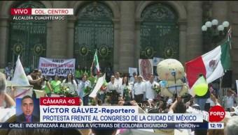 FOTO: Protesta contra el aborto llega al Congreso CDMX, 18 MAYO 2019