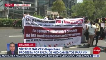 Protestan por falta de medicamentos para VIH, en CDMX